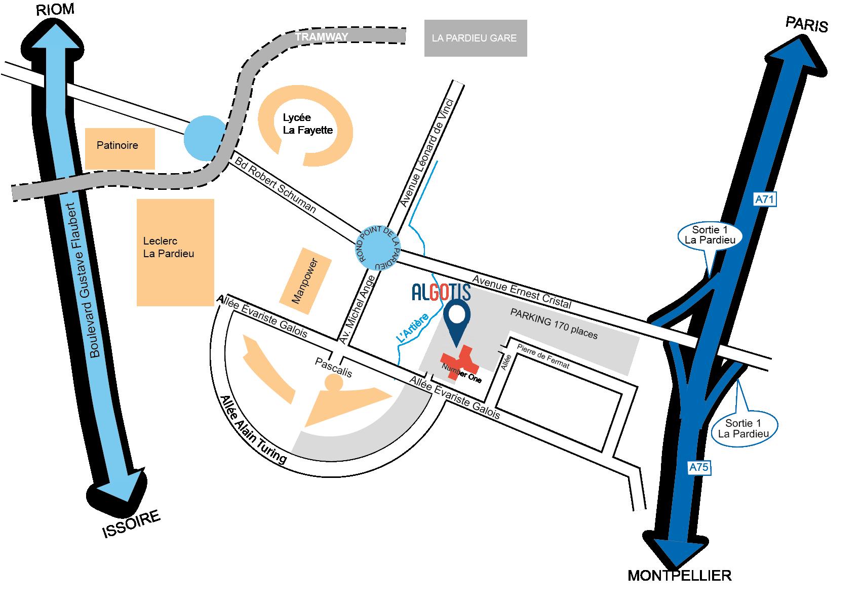 Algotis-plan acces E GALOIS